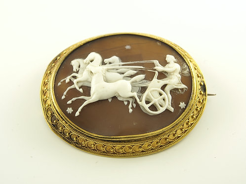 Gold Mounted Cameo