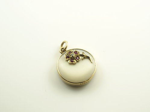 Gold Mother of Pearl Pendant