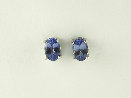 White gold tanzinite stud earrings