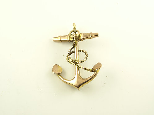 Gold Anchor Brooch