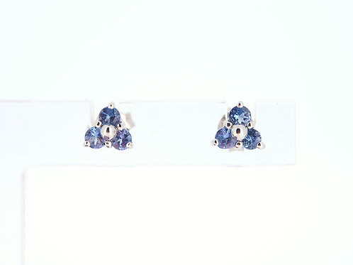 Tanzanite and Diamond stud earrings