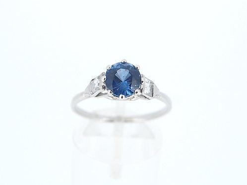 Sapphire with Diamond ring