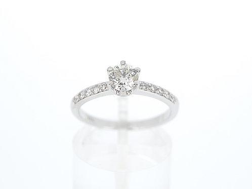 18ct White Gold Diamond Single Stone ring