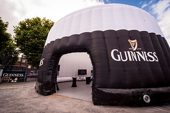 inflatable 14m diameter Guinness Pint Structure