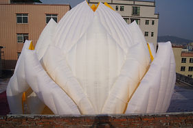 15m diameter, 9m tall inflatable Lotus event structure