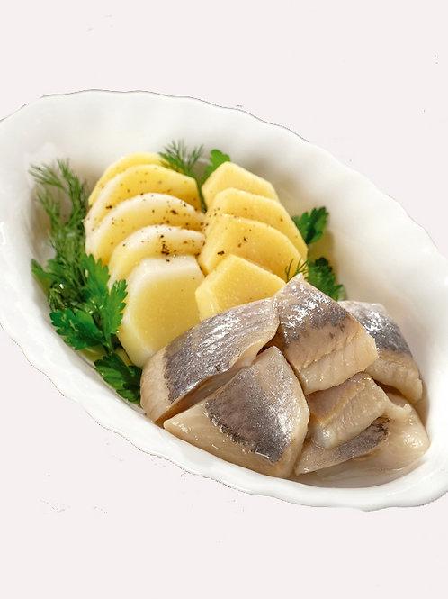 Сельдь с картофелем и луком0.5 кг