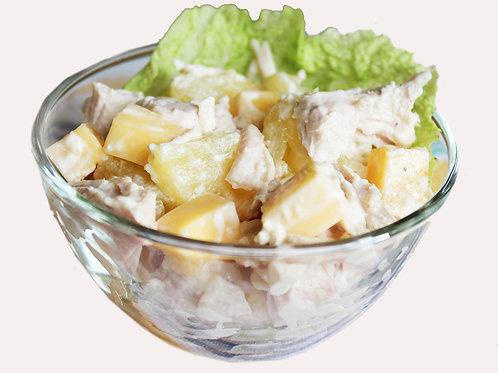 Салат с курицей и ананасом0.5 кг
