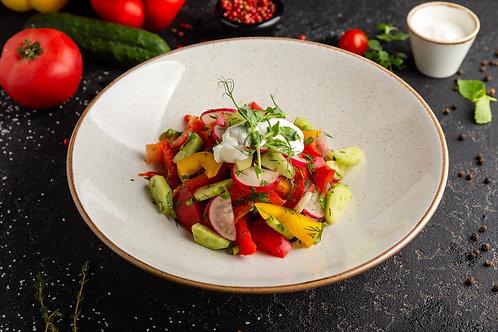 Овощной салат по-деревенски 280/30гр