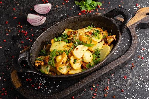 Картофель с грибами и зеленью 200гр