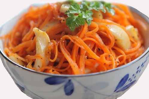 Салат с кальмарами и морковью по корейски0.5 кг