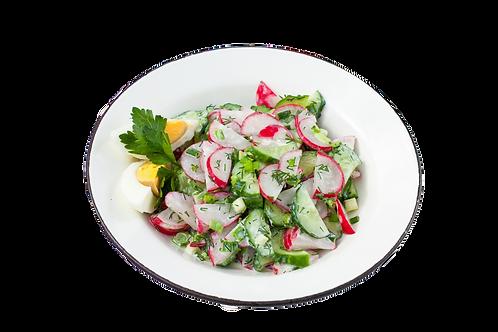 Салат с редисом , огурцом и кунжутом0.5 кг