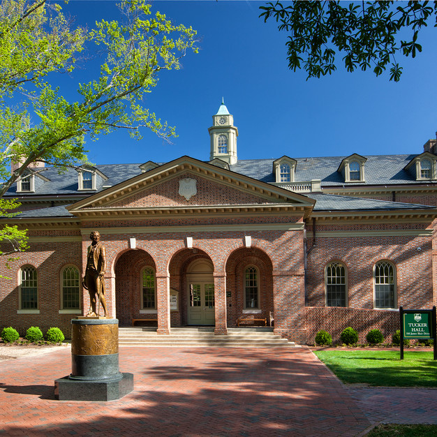 TUCKER HALL AT THE COLLEGE OF WILLIAM & MARY