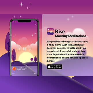 Rise - Morning Meditations Promo Banner.