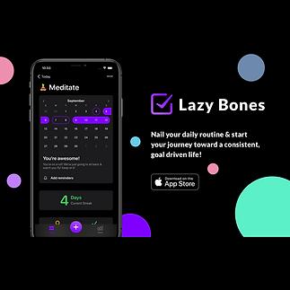 Lazy Bones - Routine Planner Promo Banne