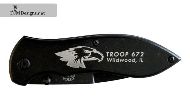 Troop 672 - Etched Pocket Knife