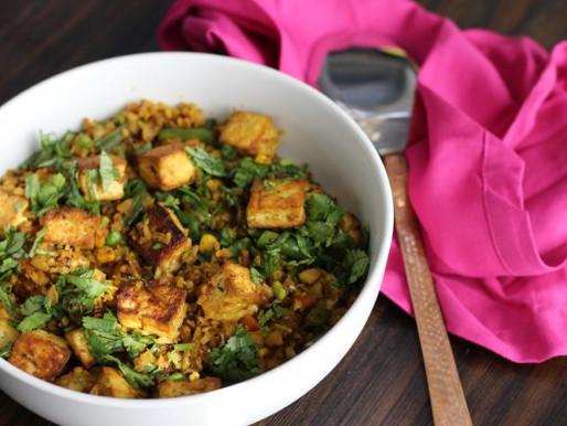 Spicy Cauliflower Fried Rice With Tofu