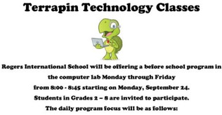 Sign Up For Terrapin Technology Classes - Gr 2-8