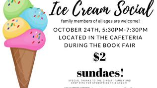 Ice Cream Social - Oct 24th