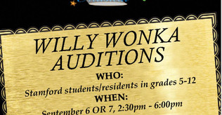 Willy Wonka Auditions- THIS Thurs. 6th & Fri 7th