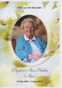 In Memoriam : Ann Hoskin
