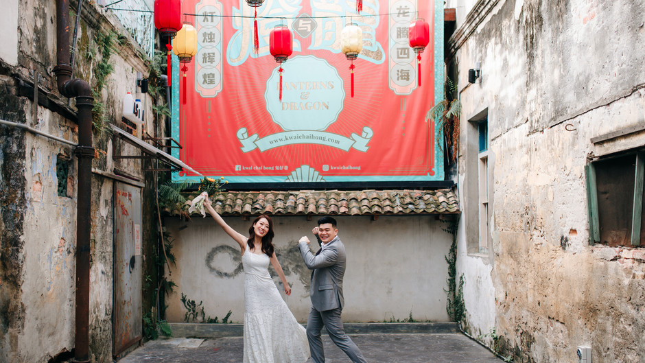 Kar & Jennie. Street shoot at Petaling street