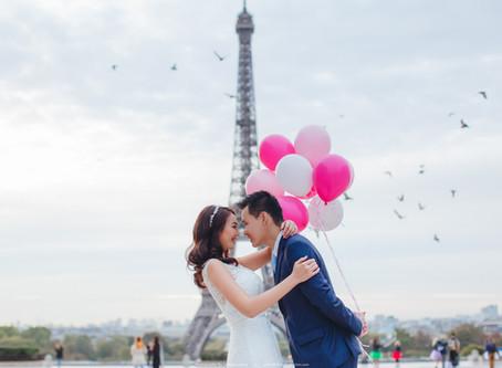 Adrian + Jojo. Paris Pre Wedding