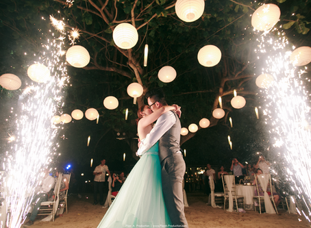 Leong Yao + Tiffany. Beach Wedding at Bali