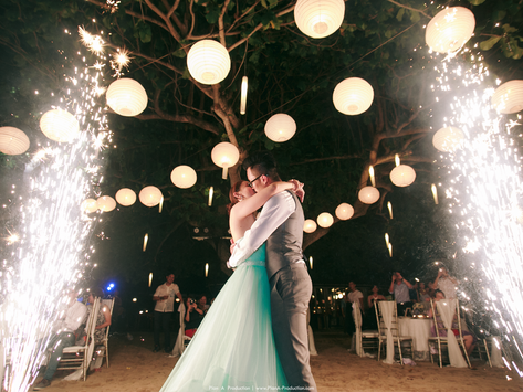 Leong Yao + Tiffany. Beach Wedding at Bali