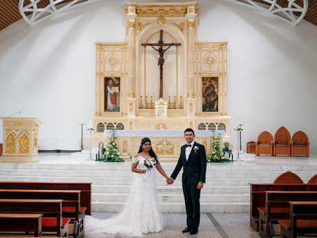 Russell + Amanda. Church Wedding // Renaissance Hotel