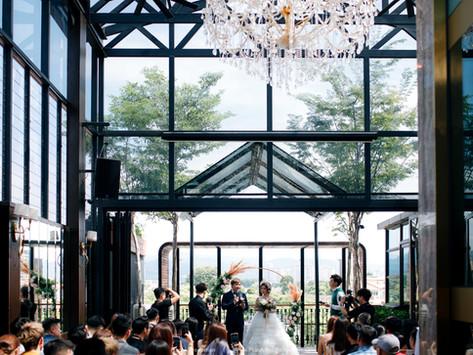 Left & Apple. Glasshouse Wedding // Intimate Wedding