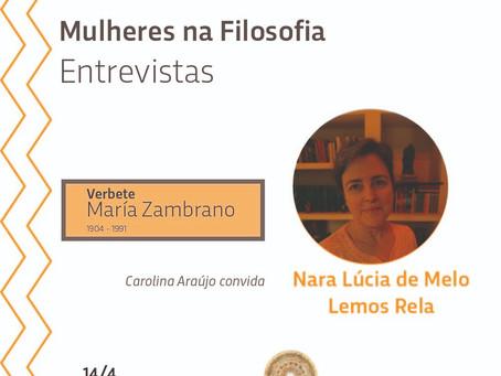 Mulheres na Filosofia Entrevistas: Nara Rela sobre o verbete María Zambrano