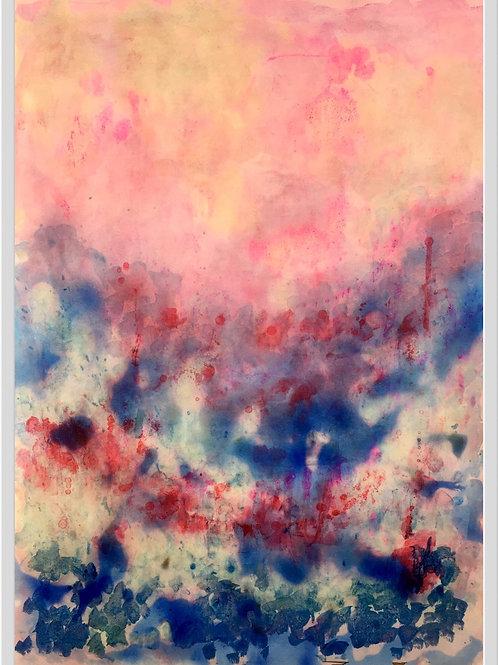 Blue & Pink Morning Hues II