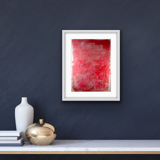 I am enough. £64 A3 Original Painting Framed. Oil & Dye on Paper