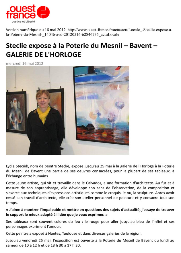 OUEST FRANCE Bavent 2012 Article Ouest F