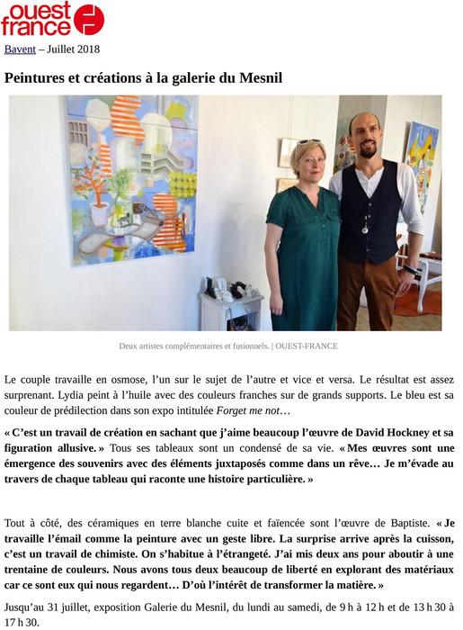 OUEST FRANCE - Le corps y dort - Bavent