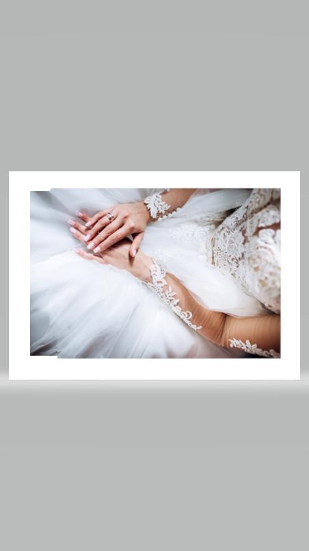 Kombipaket Nägel und Brautkleidänderung