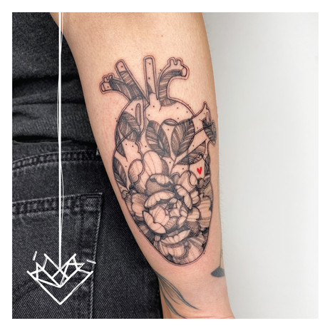 Cor Peonia Kmín Tattoo