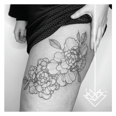 Peonias Kmín Tattoo