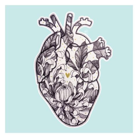 Corazón Crisantemo Kmín Tattoo