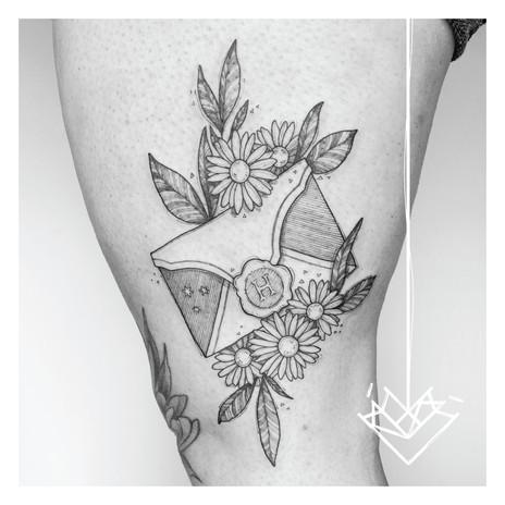 Carta Hogwarts Kmín Tattoo