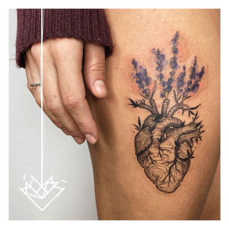 Cor Lavanda Kmín Tattoo