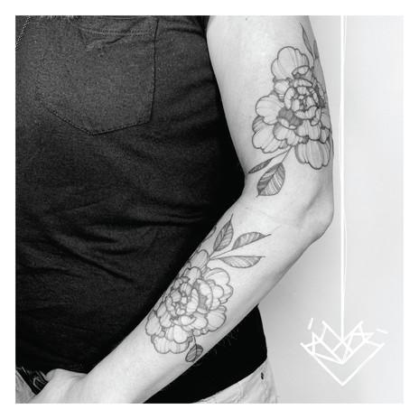 Floral Kmín Tattoo