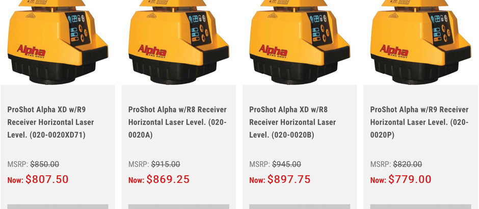 ALPHA by PROSHOT Laser Systems.