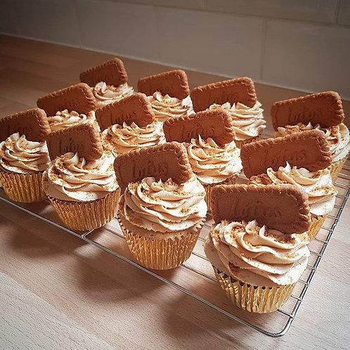 Caramel Biscuit Cupcakes