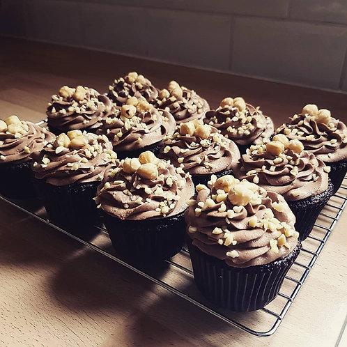 Chocolate & Hazelnut Cupcakes