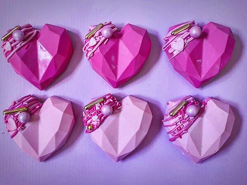 Geometric Cake Hearts