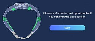 Earable app showing good signal and ready to start sleep therapy
