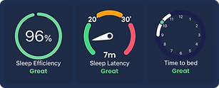 Earable app showing sleep results