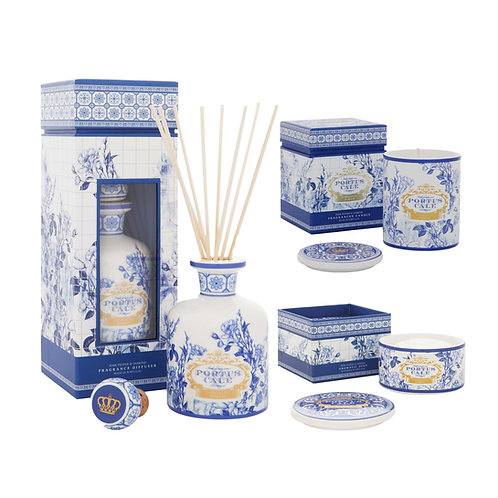 CASTELBEL / Gold & Blue Reed Diffuser, Candle and Soap (with Dish)