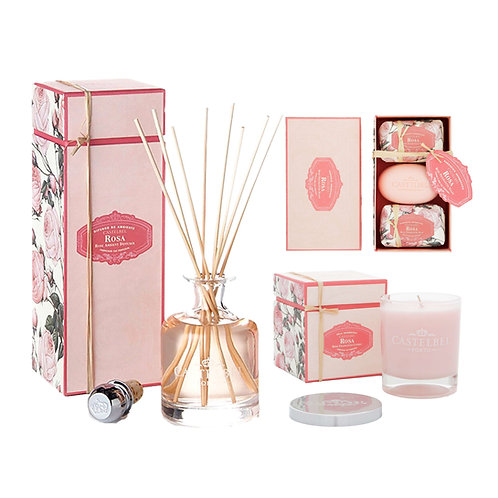 CASTELBEL / Rose Reed Diffuser, Candle and Soap Set